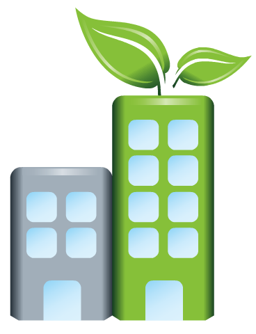 Free Earth Day clip art -- green building