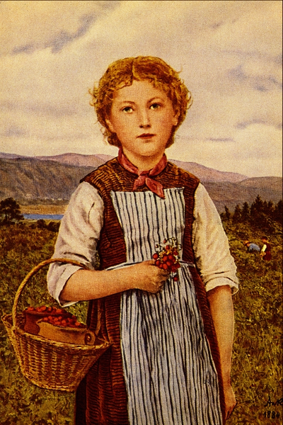 """The Strawberry Girl"" - Albert Anker - ca 1890"