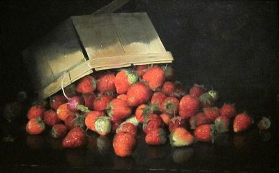 """Strawberries in a Basket"" - Joseph Decker - 1887"