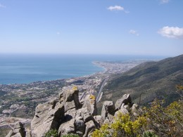 Looking towards Fuengirola from Summit of Calamorro Mountain