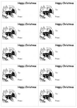 printable christmas gift tags bw