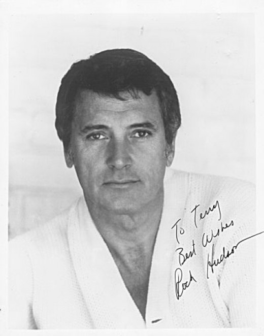 Rock Hudson (1925-1985) - Autographed Photo he Sent to Me in the Early 1980's