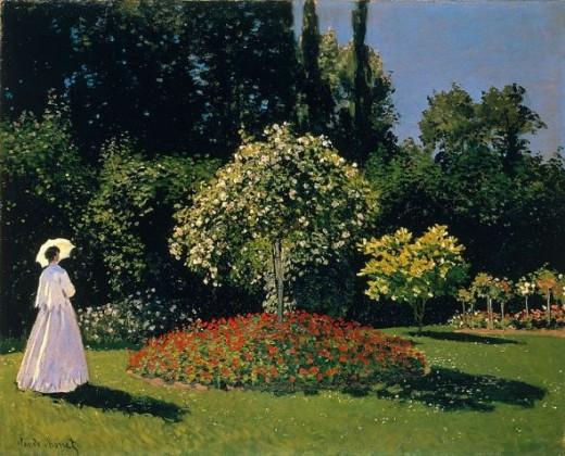 Claude Monet - Jeanne-Marguerite Lecadre in the Garden Sainte-Adresse