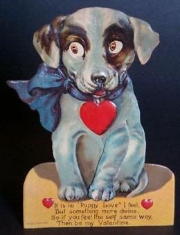 1920's Mechanical Puppy Valentine