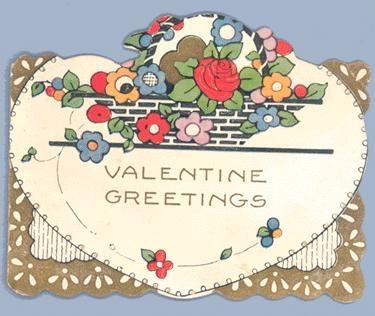 1920's Valentines Greetings Card
