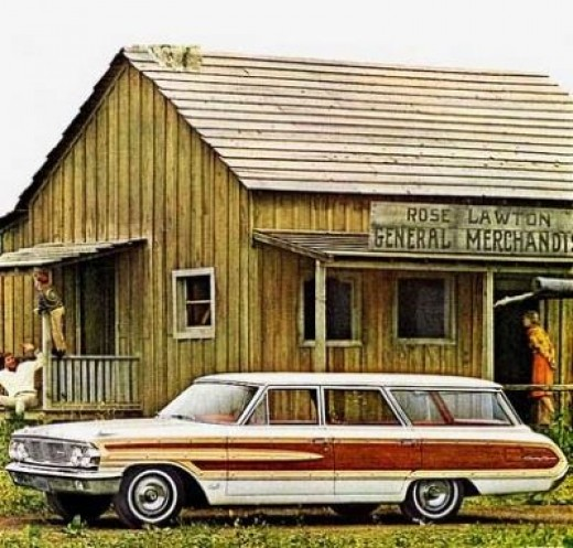 1960's Ford Country Squire Wagon