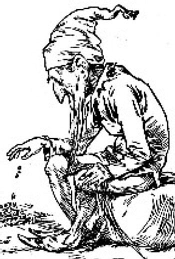 1900 Leprechaun Engraving