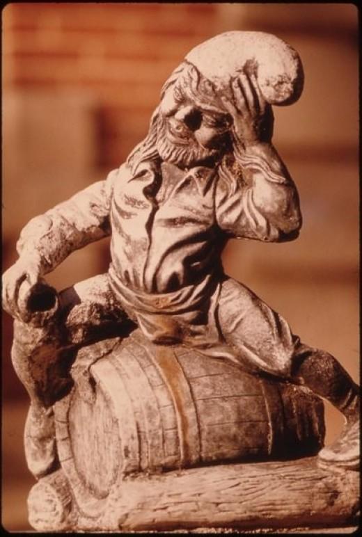 Drunk German Garden Gnome