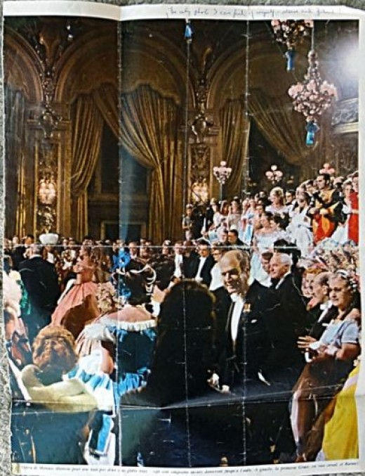 """Betty"" at the Wedding of Grace Kelly to Prince Rainer (Look for arrow to her in the far back of room)"
