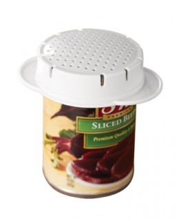 Can Strainer  -no more tuna scented fingers  -catches the mess  -dishwasher safe