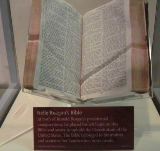 Nelle Reagan's Bible on display at the Ronald Reagan Library when I took the picture