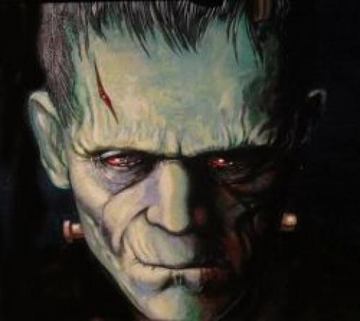 Frankenstein Painting