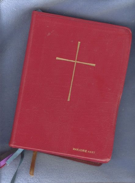 Mom's Book Of Common Prayer we read to her when she was in her coma before her death.