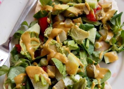 Vegan Indian Lunch Salad