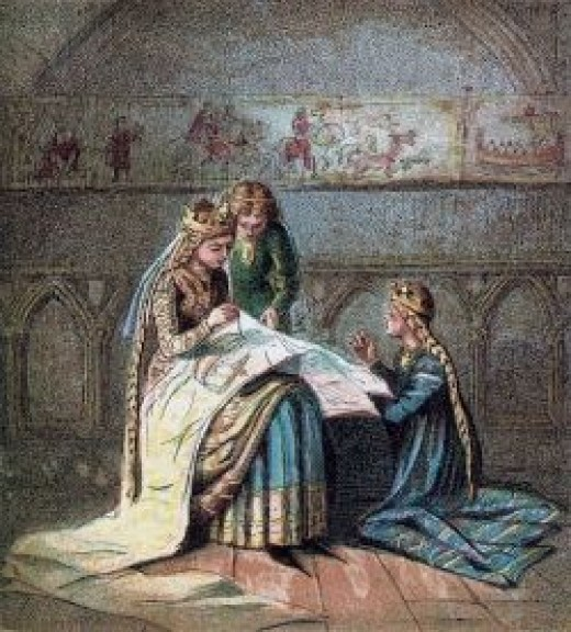 Matilda of Flanders Making a Tapestry