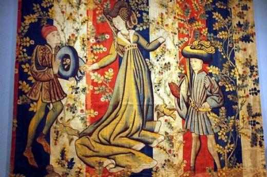 WLA metmuseum Figures in a Rose Garden,  Ca. 1450