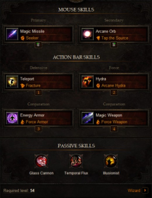 Diablo  Build Calculator
