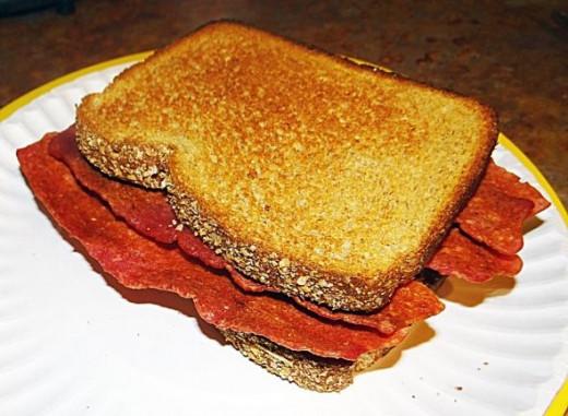 Bacon and Onion B'onion Sandwich