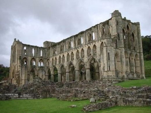 Rievaulx Abbey, North Yorkshire, a victim of the Dissolution of the Monasteries.