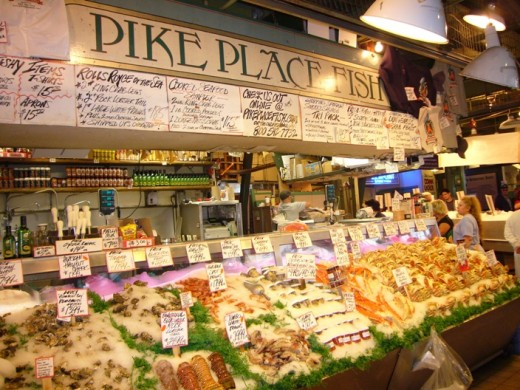 The Pike Place Fish Company at the Pike Place Market