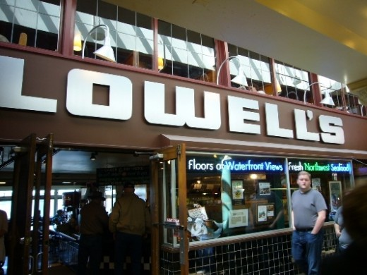 Lowell's Restaurant has been around for over 100 years!  Grab a seat by the window for a fantastic view of Elliot Bay