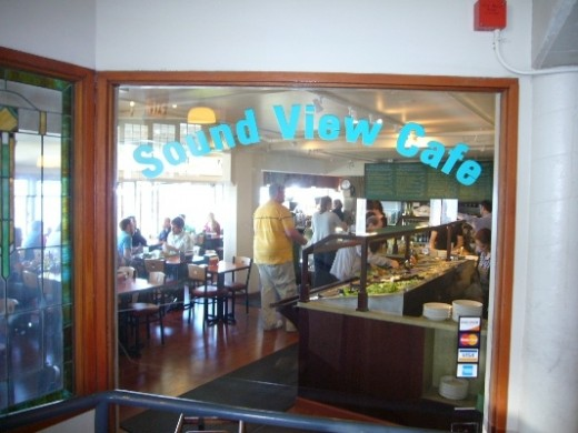 The Sound View Cafe is another restaurant with a great view of Elliot Bay.