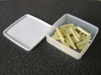 Refrigerate the Parboiled Potatoes in a Plastic Dish