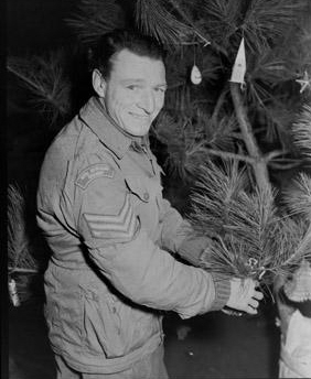Sergeant Decorating Christmas Tree Korean War