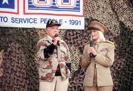 Desert Storm USO Bob Hope Ann Jillian