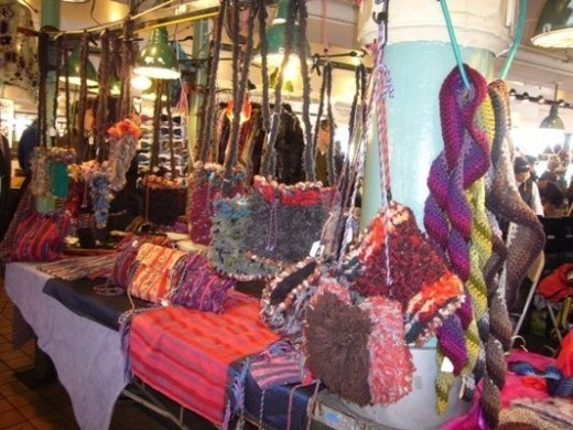 Handmade Handbags and Scarves