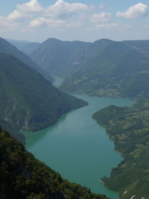 Drina Gorge, on the border of Serbia and Bosnia
