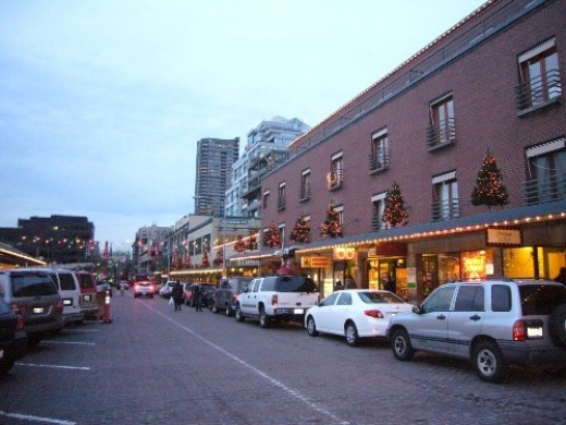 Pike Place Decorated for Christmas