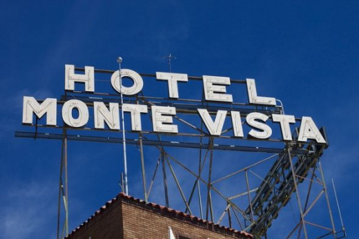 Old Hotel Sign in Flagstaff Arizona