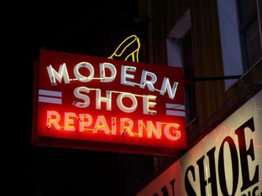 Modern Shoe Repairing Sign Provo Utah