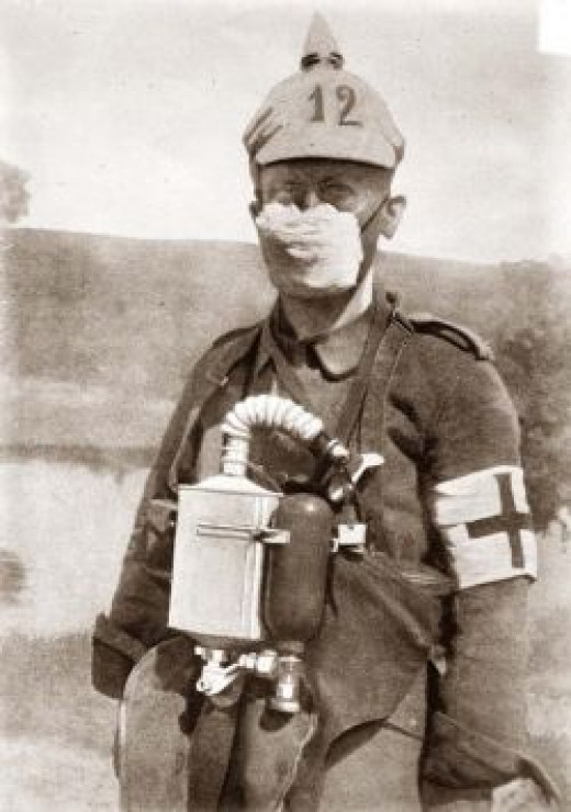 HOMEMADE GERMAN GAS MASK FROM WWI