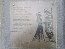 A Close Up of the Memorial Plaque on the Site of William Wallace's Matrimonial Home in Lanark