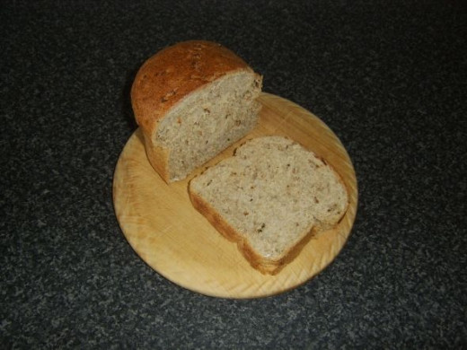 Slice of granary bread