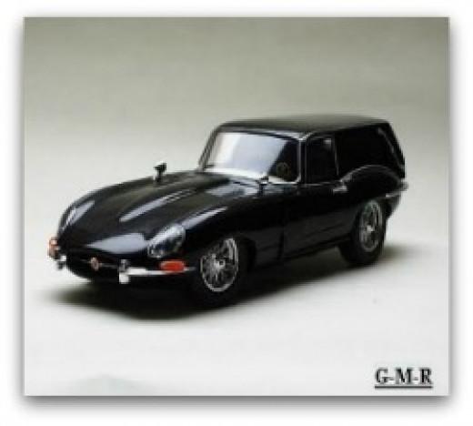 Harold's Modified Jaguar XKE Black Hearse