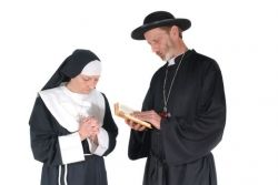 Catholic nun and priest