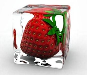 Strawberry Decorative Ice Cube