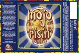 Mojo Risin:  A half ton more malt and double the hops of the regular Mojo! (www.salsbeverageworld.com)