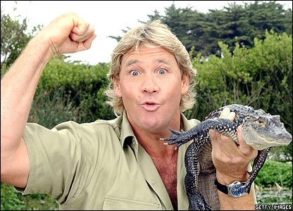 Steve Irwin With Baby Crocodile