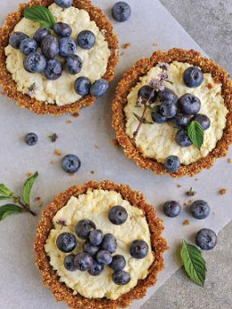 No-Bake Cheese Tartlets made with a one-hour cheese! (Courtesy Workman Publishing)