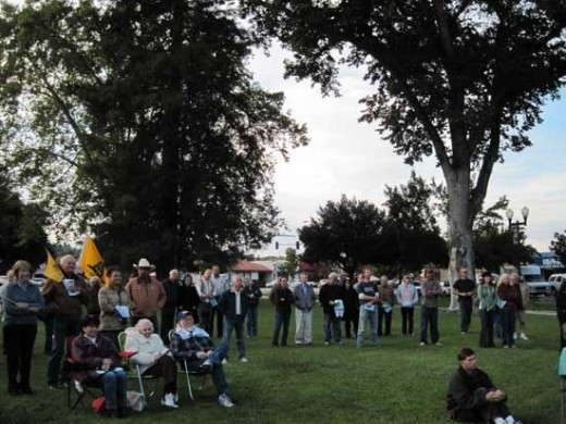 Part of the Crowd in Paso Robles for the Tea Pary Patriots Ralley on October 21, 2010