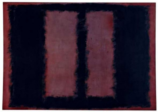 "Mark Rothko, Black on Maroon Sketch for ""Mural No.6"" (1958)"