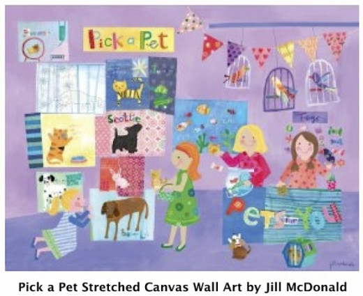 Oopsy Daisy Pick a Pet Stretched Canvas Wall Art by Jill McDonald