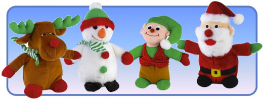Musical Zanies Christmas Dog Toys