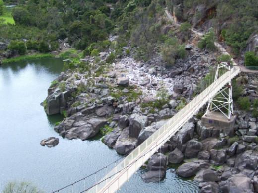 Alexandra Suspension Bridge at Cataract Gorge