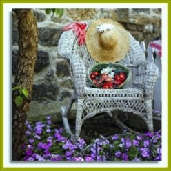Victorian Wicker Furniture for Garden, Porch and Patio