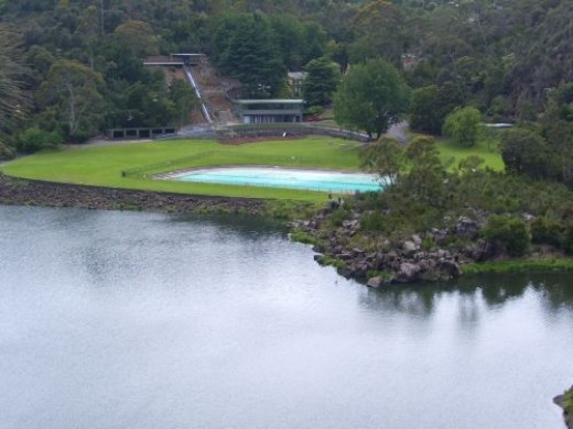 The swimming pool area, First Basin